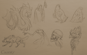 Some doodles by Coldevey