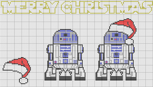 R2D2 Cross Stich Pattern by falling2fast