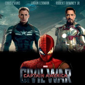 Civil War FanPoster #CivilWar #SpiderMan #Avengers by luisbury-zine-net
