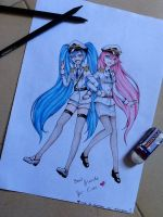 Miku and luka : best friends ! by Vocaloid2743