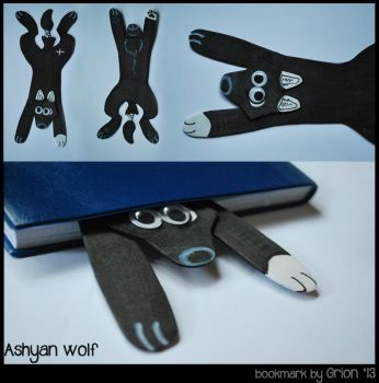 Ashyan wolf bookmark by Grion