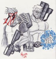 Cable and Grifter by lordmylar06