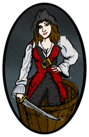 Pirate in the rain by sarahbevan11