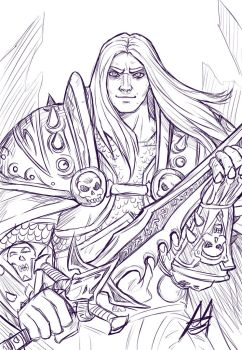 Arthas, the lich king sketch by MauroIllustrator