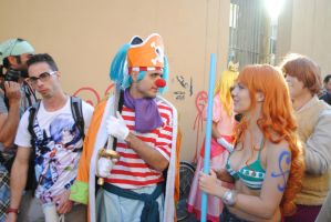 Buggy the Clown and Nami - One Piece (2) by Mattev