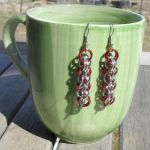 ear285 Red and Silver Soyuz Earrings by Tarliman