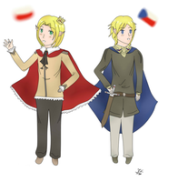 Poland and Czech (elves) by KekiHaku