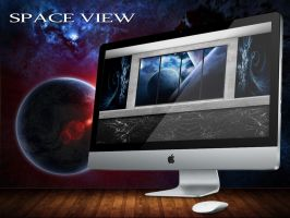 Space View Wallpaper by wallybescotty