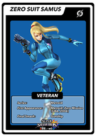SSB4 Cards Zero Suit Samus by GameAndWill