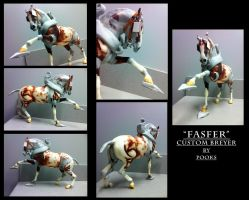 Fasfer custom breyer WIP 3 by pookyhorse