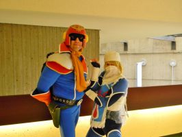 Captain Falcon and Sheik by EndOfGreatness