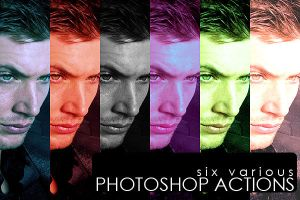 six photoshop actions by Sara-Devestation