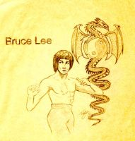 Bruce Lee Drawing 1982 by teddy09
