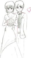 Another wedding drawing by beccaecka