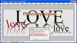 love miror text actions by feniksas4