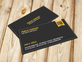 Elegant Corporate QR-Code Business Card by es32