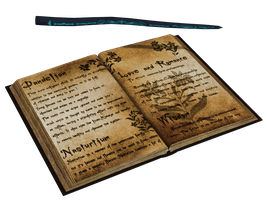 Spell Book And Wand PNG Stock by Roys-Art