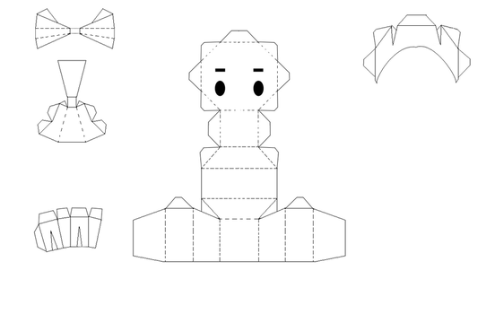 Blank Papercraft Template by bunnycharms