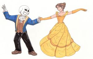 Beauty and the Beast Undertale Crossover by TrueWinterSpring