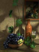 Bunches of grapes by slepalex