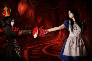 Alice Liddell and Queen of Hearts 5 by LucyIeech