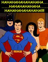 Superman , Batman , Wonder Woman , Aquaman - meme by adeadhitya