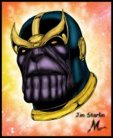 THANOS  by  JIM STARLIN color by Mich974