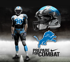 Detroit Lions Away by DrunkenMoonkey