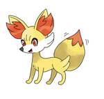 Happy Little Fennekin by werewolf-dragon