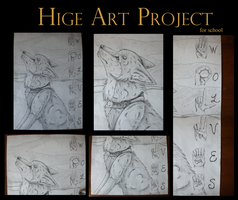 hige art project by thelunacy-fringe