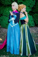Anna and Elsa cosplay - Frozen by Achico-Xion