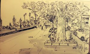 Under the trees at Marine drive by Scalpedfish