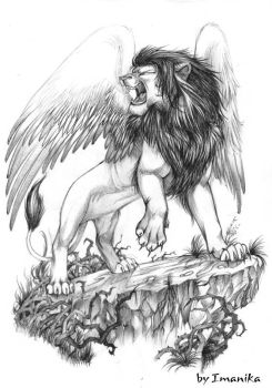 Lion with wings by Light-Angel-Vera