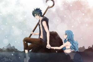 Gruvia - Jack Frost and Little Mermaid by SunHee2244