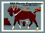 544 - ZKS Pirate Captainess by ZyathStablesHQ