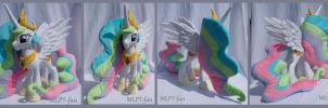 23 inches Princess Celestia with spread wings by MLPT-fan