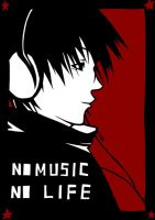 no music no life by kazenokibou