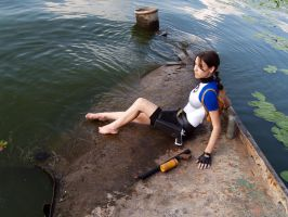 Lara Croft SOLA - near the water by TanyaCroft