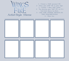 Wings of Fire Artist Style Meme Template by xTheDragonRebornx
