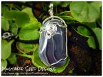 Lace Agate Pendant by DarkSaphire2002