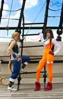 Zidane and Garnet from Final Fantasy 9 by AshBimages