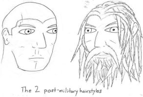 Post-military haircuts by Ross-Makoske