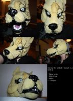 Glowy the pitbull - fursuit WIP by GlowyDaBstrd