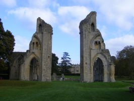 Glastonbury Abbey 63 by LadyxBoleyn