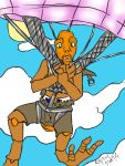 clear sky parachute dive by yagami246