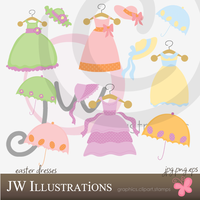 Easter Dresses by jdDoodles
