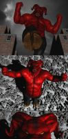 Asmodeus the red giant mega Demon by Spino2006