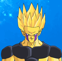 Final Cell Super Saiyan by GambledPaintbrush