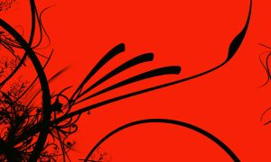 Red and black Abstract Desktop by jackelares