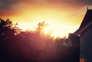 rooftop sunset by Laura1995